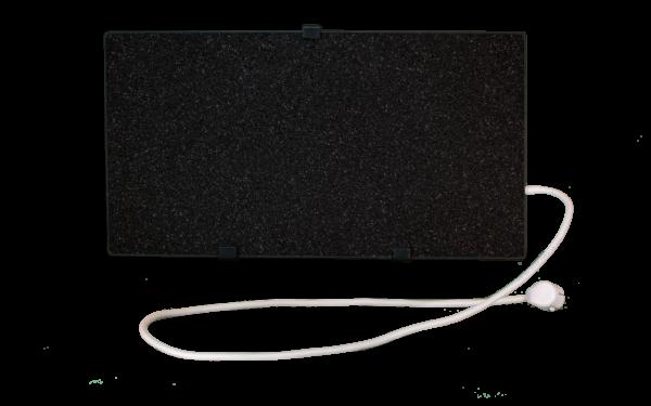 Электрообогреватель кварцевый - 0,35 кВт (Черный)