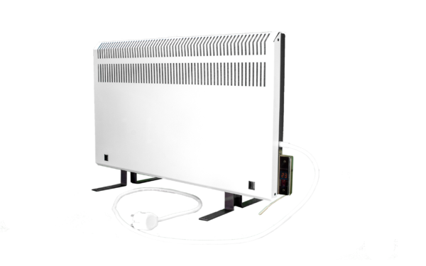 Электрообогреватель кварцевый с терморегулятором - 0,45 кВТ (Красный) - Настенный с экраном