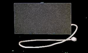 Электрообогреватель кварцевый - 0,35 кВт (Тёмно-серый, настенный)