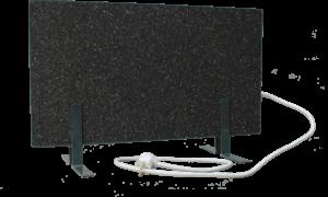 Электрообогреватель кварцевый - 0,35 кВт (Тёмно-серый, напольный)